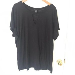 Torrid black vneck choker short sleeve shirt 3